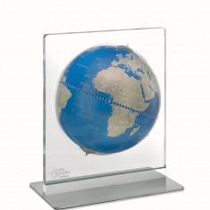Glob pamantesc de birou Aria Desk Metallic Blue 22 cm