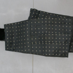 Brau barbati din matase 100% gri cu polka dots marimea ~M - Cravata Barbati, Puncte