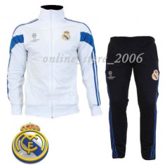 Trening barbati - Trening Real Madrid barbati - Slim-Fit - pantaloni conici -Poze Reale !