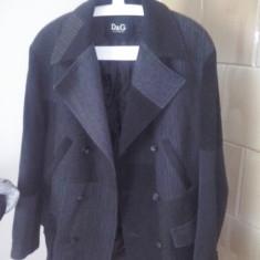 Vand palton barbatesc D&G - Palton barbati Dolce & Gabbana, Marime: 54, Culoare: Gri, Lana