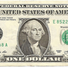 Statele Unite (SUA) 1 Dolar 2013 (E - Richmond VA ) 85225548 P-New - bancnota america