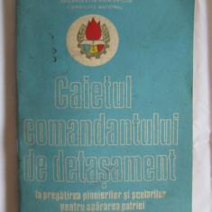 RAR! CAIETUL COMANDANTULUI DE DETASAMENT LA PREGATIREA PIONIERILOR SI SCOLARILOR