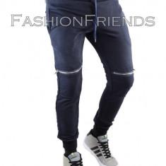 Pantaloni de trening tip ZARA bleumarin - pantaloni barbati - cod 5117, XL, Din imagine