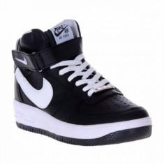 Ghete barbati Nike, Piele sintetica - Ghete Nike Air Force 1 negru-alb livrare gratuita prin posta