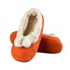 Papuci dama - Papuci de casa - art 62808 - portocaliu