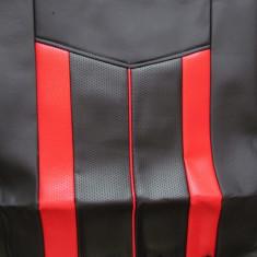 Huse scaune auto 661 imitatie piele Negru + Rosu ( 11piese ) - Husa Auto