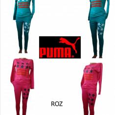 TRENINGURI PUMA, MATERIAL BUMBAC, LIVRARE GRATUITA - Trening dama Puma, Marime: S, M, L, Culoare: Roz, Turcoaz
