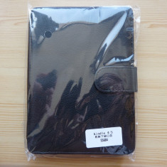 Husa Kindle 4, 5 de 6 inch. Model piele eco. Buzunar