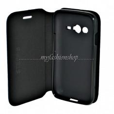 Husa Samsung Trend 2 Lite SM-G318 - Husa Telefon Samsung, Universala, Negru, Piele Ecologica, Cu clapeta, Husa