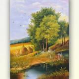 Tablou, An: 2016, Peisaje, Ulei, Altul - Colt de rai (2) - pictura peisaj, ulei pe panza 70x50cm