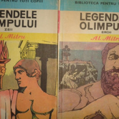 Carte mitologie - Legendele Olimpului 2 volume (Eroii+Zeii) an 1983/508pag- Alexandru Mitru