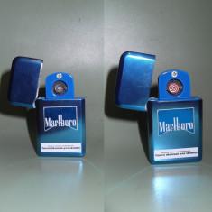 Bricheta Marlboro metalica electrica/electronica cu incarcare usb-NOUA - Bricheta Zippo Marlboro, Tip: Moderna (1970 -acum)