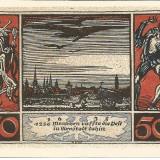 !!! GERMANIA - NOTGELD ARNSTADT 50 PF 1921 - UNC /// CEL DIN IMAGINE