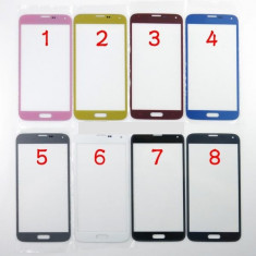 Geam carcasa - Ecran Samsung Galaxy s5 SM-G900F albastru geam