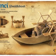 Kit Constructie Barca Cu Vasle Functionala Davinci - Jocuri arta si creatie