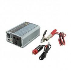 Whitenergy invertor DC/AC de la 12V DC la 230V AC 350W, USB