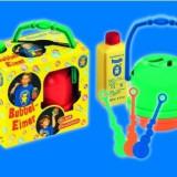 Aniversari copii - Jucarie Baloane De Sapun Galetusa No Spill, 3Inele De Suflat, 250Ml Solutie Non-Toxica Pustefix Bubble Toys
