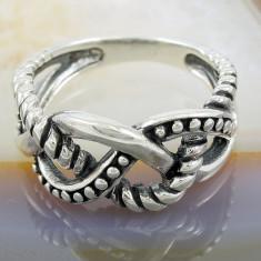 Inel argint - Inel din Argint 925, cu model Impletit, cod 856