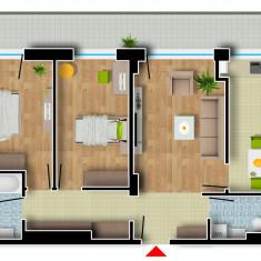 Apartament de vanzare, 3 camere, Etajul 7, An constructie: 2016, Suprafata: 105 - Apartament NOU, Cartier Prima Residence Oradea, 3 camere-PARIS, 61680Eur