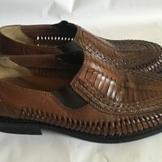 Pantofi de vara pt. barbati din piele Easy Street mar. 42 - Pantofi barbati Adidas, Culoare: Maro, Piele naturala