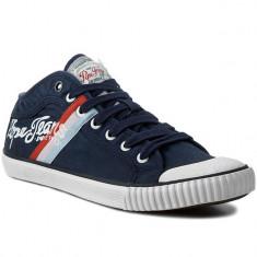 Adidasi PEPE JEANS LONDON Industry Teen nr. 40, 41, 42 si 44, COD 194 - Adidasi barbati Pepe Jeans, Culoare: Albastru, Textil