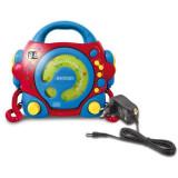 Aniversari copii - Cd Player Portabil Cu 2 Microfoane Si Adaptor Inclus