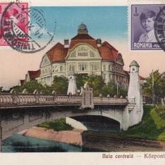 TIMISOARA, BAIA CENTRALA, CIRCULATA XI ''931 - Carte Postala Banat dupa 1918, Printata