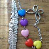 Semn de carte inimi si fluture