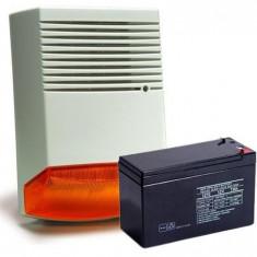 Sisteme de alarma - KIT SIRENA DE EXTERIOR SI ACUMULATOR 12V/7AH HC F6A KIT7