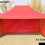 Pavilion cort  pereti  laterali  3 laturi  pliabil 3x4.5m NOU metalic rezistent