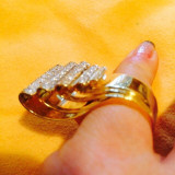 Inel diamant - Vând inel aur 18 k cu 100 diamante, 27gr - 1000€