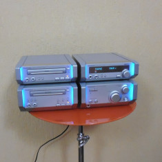 TECHNICS HD 505 CD radio casetofon autoreverse stare buna iluminare albastra, 0-40 W