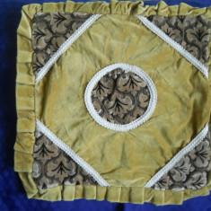 Fata de masa - Fata de perna ornamentala, catifea bumbac