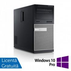 Sisteme desktop fara monitor - Dell OptiPlex 990 Tower, Intel Core i5-2400, 3.10Ghz, 4Gb DDR3, 250Gb SATA, DVD-ROM + Windows 10 Pro