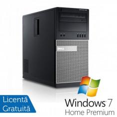 Sisteme desktop fara monitor - Dell OptiPlex 990 Tower, Intel Core i5-2400, 3.10Ghz, 4Gb DDR3, 250Gb SATA, DVD-ROM + Windows 7 Home Premium