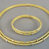Set Colier si bratara aur 18k cu diamante