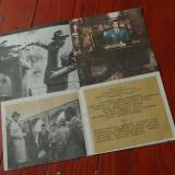 Colectii - Pliant film Trenul de aur ( Romaniafilm ) 8 pagini imagini color si alb negru !