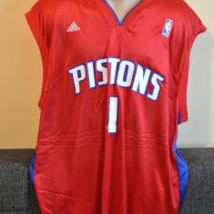 Maieu Basket ADIDAS NBA DETROIT PISTONS - BILLUPS NO. 1 Marimea XL. Baschet. - Maiou barbati Adidas, Culoare: Rosu