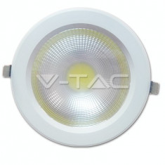 Bec / LED - 18W Spot LED COB Downlight Reflector Corp Alb - Alb Natural 4500K