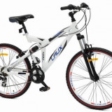 """Bicicleta Mountain Bike 26"""" din aluminiu cu suspensii si jante duble Best Laux LMS2629"""