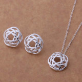 Set Argint 925 - lantisor si cercei - Lady - Set bijuterii argint