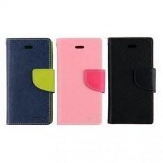 Husa telefon Mercury - Husa de protectie tip carte Goospery Fancy Diary, interior jelly case, functie stand, pentru Allview P5 Quad (Culoare: Albastru inchis)
