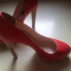 Pantofi rosii Musette - Pantof dama, Marime: 37, Culoare: Rosu