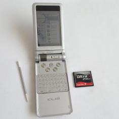 PDA SONY CLIE PEG-NX70V/U + CompactFlash SanDisk ultra II 256MB card stylus palm, Touchscreen si taste