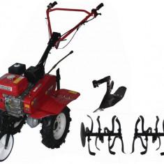 095103-Motosapatoare pe benzina 7 CP 3 viteze cu accesorii Raider Power Tools - Motocultor