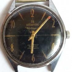 Atlantic Worldmaster 21 jewels Waterproof incabloc Antimagnetic - Ceas barbatesc Atlantic, Lux - elegant, Mecanic-Manual, Analog, 1940 - 1969, Diametru carcasa: 38