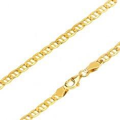 Brățară aur galben 14K - za ovală cu știft în mijloc, 195 mm