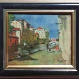 Negely R. * Pastel pe carton * Dimensiuni cu rama 28 x 32 cm - Pictor roman, Peisaje, Altul