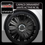Capace ornament jante Active RC 4buc - Negru - 14' - CRD-VER1419BL - Capace Roti