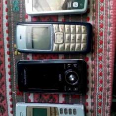 Telefoane mobile Sony Ericsson Nokia 4 bucati la 100 de lei - Telefon mobil Sony Ericsson, Argintiu, Nu se aplica, Neblocat, Fara procesor